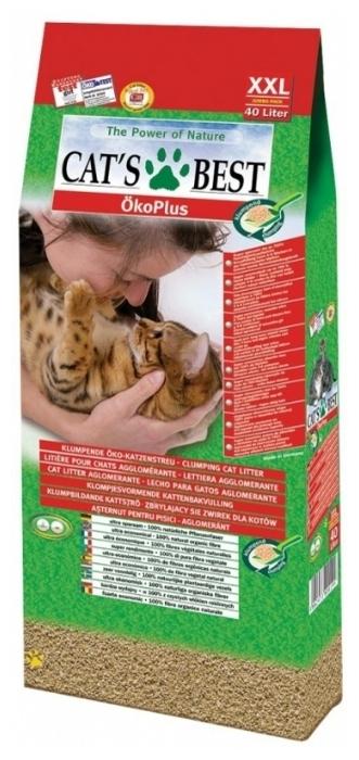 Cat s Best Original, 40 л/17.2 кг - биоразлагаемый, с защитой от запаха, смываемый