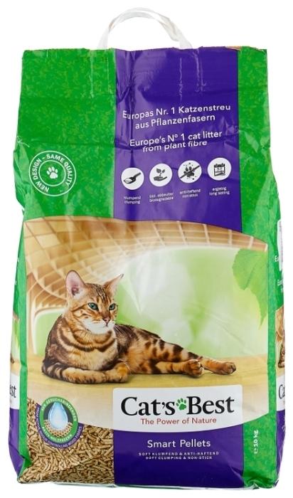 Cat s Best Smart Pellets, 10 кг/20 л - биоразлагаемый, для длинношерстных