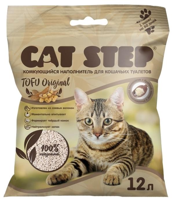 Cat Step Tofu Original растительный, 12 л - соевый