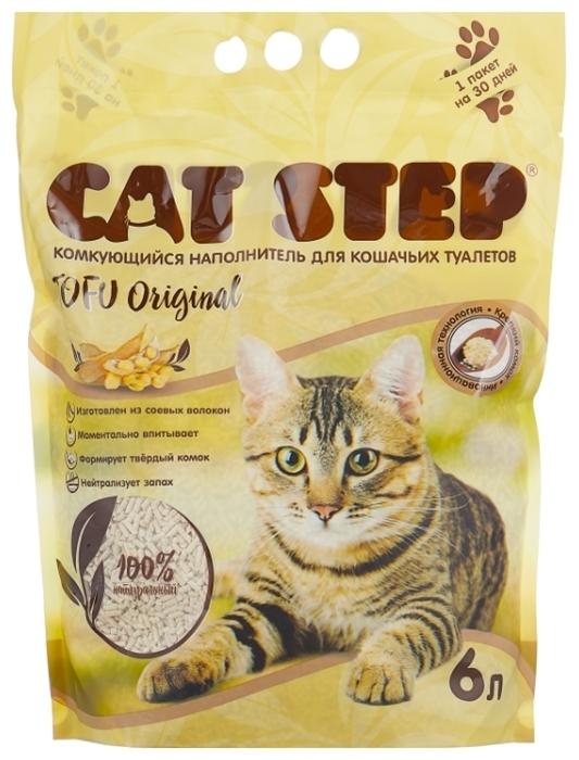 Cat Step Tofu Original растительный, 6 л - соевый