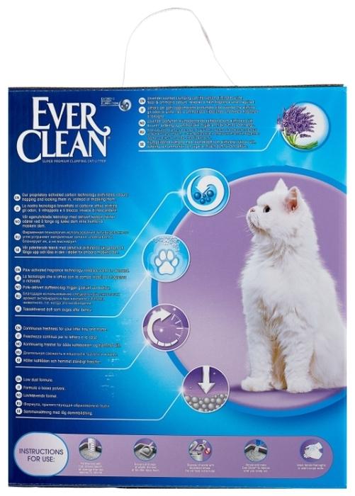 Ever Clean Lavender, 10 л - с защитой от запаха, антибактериальный, ароматизированный
