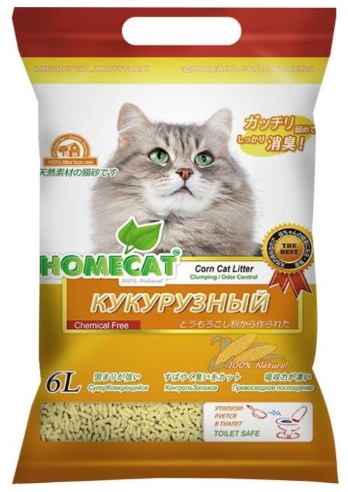 Homecat Эколайн кукурузный, 6 л - кукурузный
