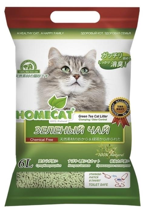 Homecat Эколайн Зеленый чай, 6 л - кукурузный