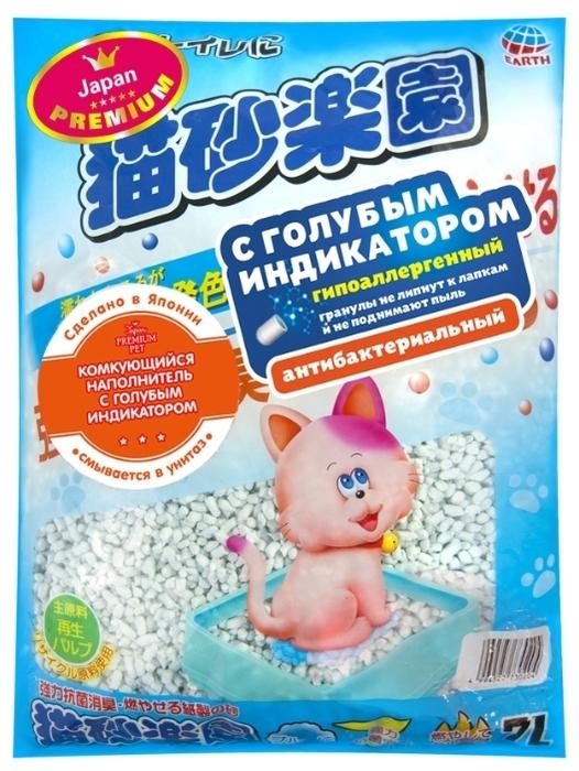 Japan Premium Pet целлюлозно-полимерный с голубым индикатором, 7 л - бумажный