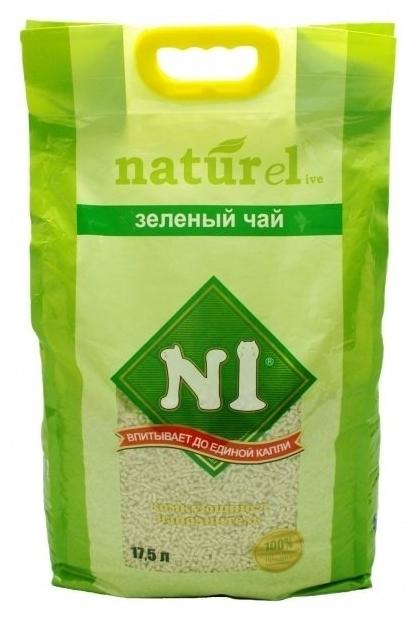 N1 Naturel Зеленый чай, 17.5 л - биоразлагаемый, с защитой от запаха, смываемый