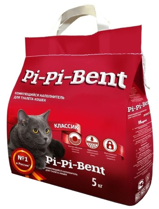 Pi-Pi Bent Классик, 5 кг - с защитой от запаха, антибактериальный