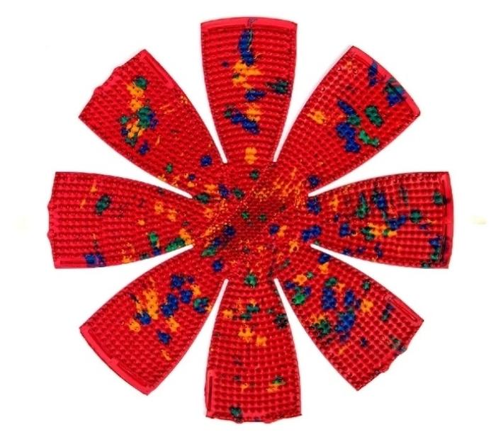 Ляпко Ромашка, шаг игл 5 мм 34.4x31.4 см - вид массажа: акупунктурный