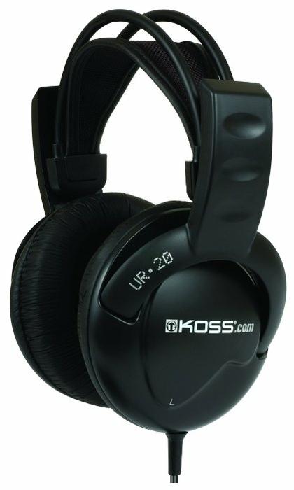 Koss UR20 - конструкция: полноразмерные (закрытые)