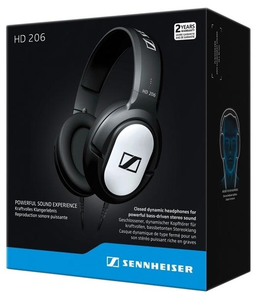 Sennheiser HD 206 - длина кабеля: 3м