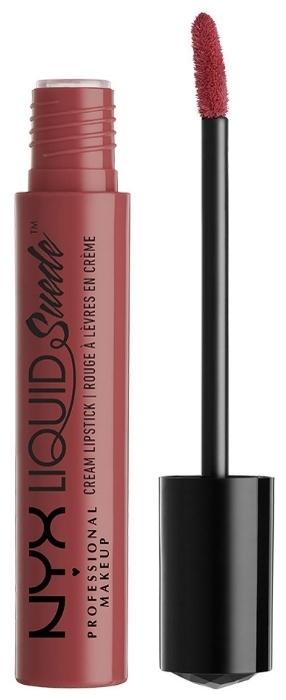 NYX professional makeup Liquid Suede Cream - финиш: матовый, бархатный
