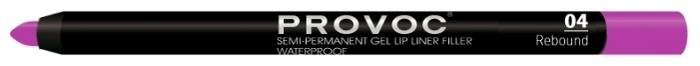 Provoc Semi-Permanent Gel Lip Liner - текстура: гелевая
