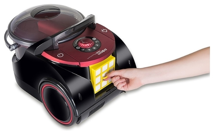 ARNICA Bora 7000 Premium - особенности: индикатор заполнения пылесборника, регулятор мощности на корпусе