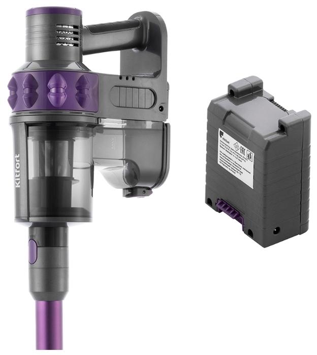 Kitfort KT-573 - турбощетка в комплекте, фильтр тонкой очистки