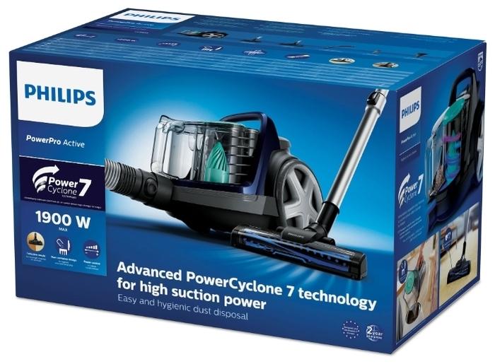 Philips FC9573 PowerPro Active - особенности: регулятор мощности на корпусе