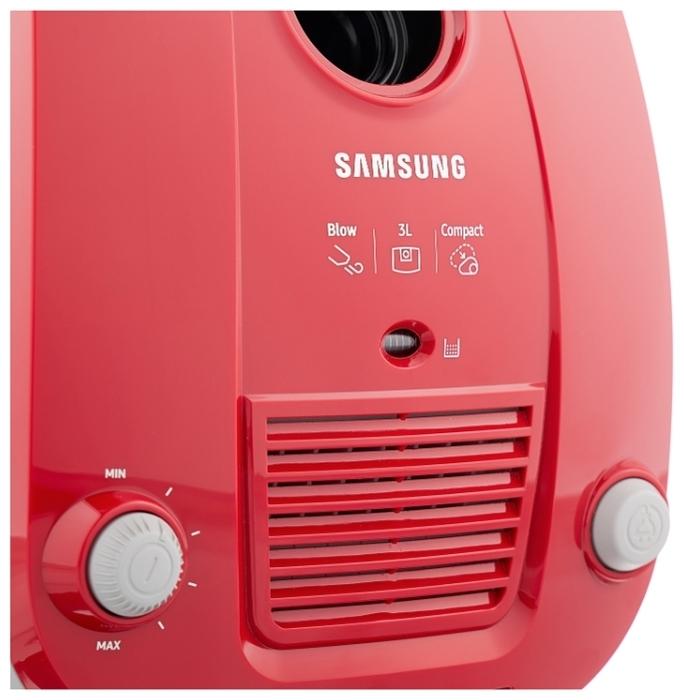 Samsung SC4181 - особенности: индикатор заполнения пылесборника, регулятор мощности на корпусе