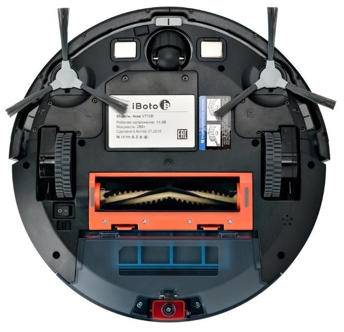 iBoto Aqua V715B - работа от аккумулятора: до 180мин