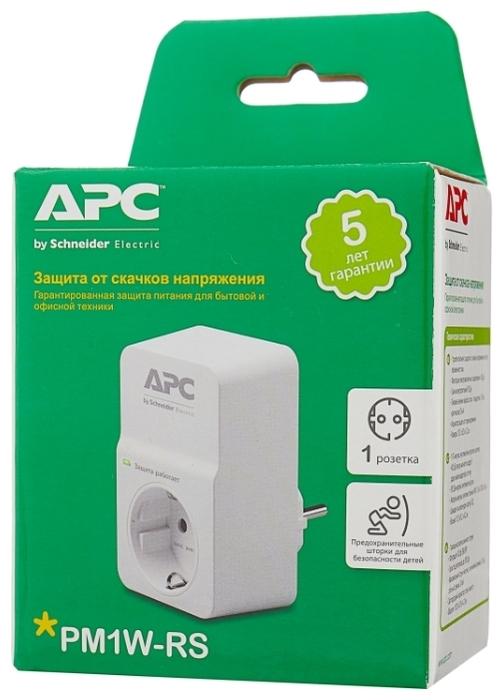 APC by Schneider Electric PM1W-RS, 1 розетка, с/з, 16А - световая индикация