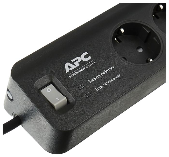 APC by Schneider Electric PM5B-RS, 5 розеток, 1.8 м, с/з, 10А - выключатель на корпусе