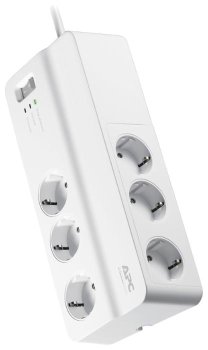 APC by Schneider Electric PM6-RS, 6 розеток, 2 м, с/з, 10А - выключатель на корпусе