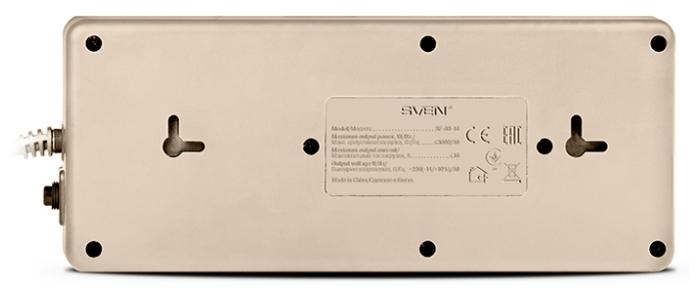 SVEN SF-08-16, 8 розеток, 1.8 м, с/з, 16А / 3600 Вт - размеры (ШxВxД) 93x51x235