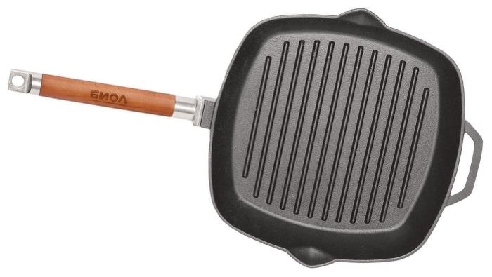 Биол 1026С 26 см с крышкой, съемная ручка - толщина дна: 4мм