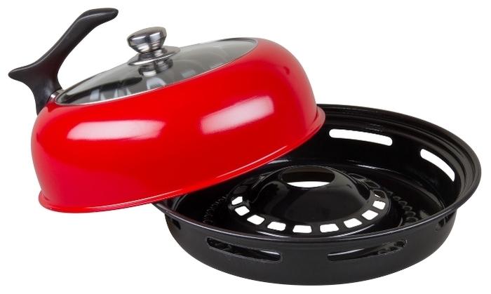 Goodgrill Гриль Газ D-512 с крышкой - особенности: мытье в посудомоечной машине, крышка в комплекте
