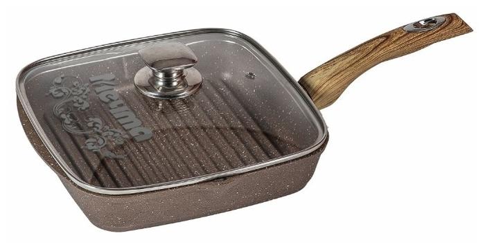 Мечта Гранит 26х26 см с крышкой - особенности: мытье в посудомоечной машине, крышка в комплекте