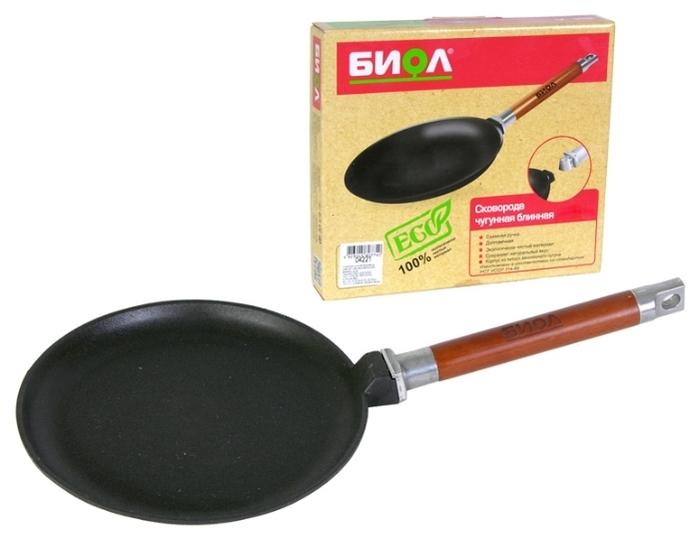 Биол 04241 24 см, съемная ручка - толщина дна: 4мм