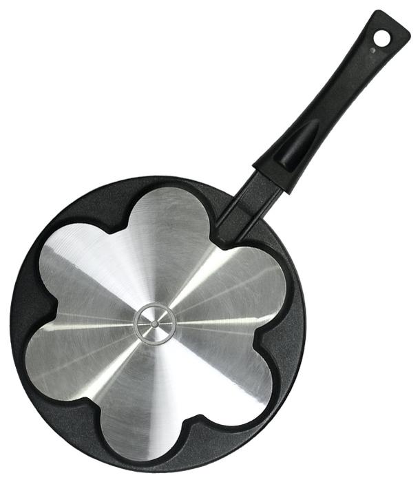 Сковорода для оладий Биол СО-24П 24 см - особенности: мытье в посудомоечной машине, ненагревающаяся ручка