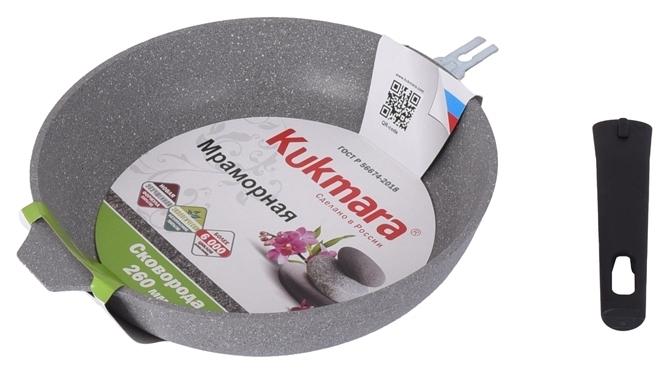 Kukmara Мраморная 263а 26 см, съемная ручка - диаметр дна: 22см