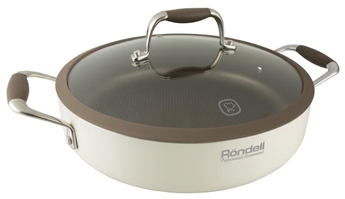 Rondell Latte RDA-286 26 см с крышкой - антипригарное покрытие: титановое