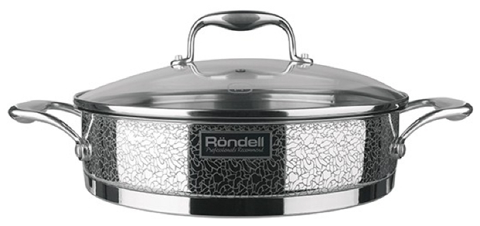 Rondell Vintage RDS-353 26 см с крышкой - материал: сталь