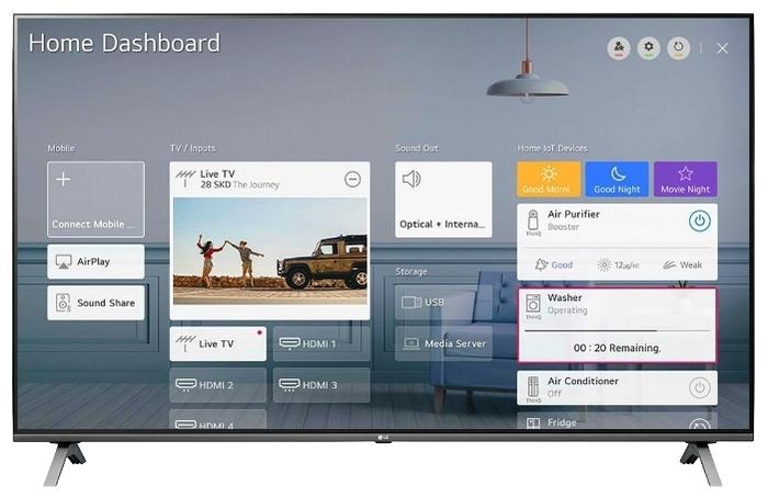 "LG 55UN80006 55"" (2020) - платформа Smart TV: webOS"