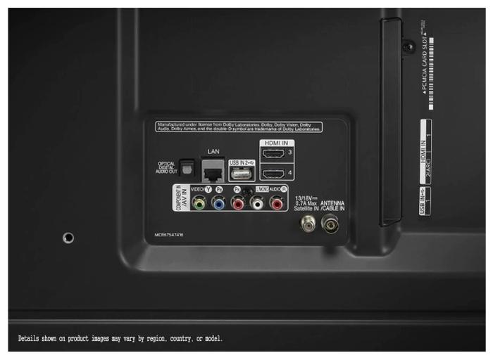 "LG 55UN80006 55"" (2020) - размеры с подставкой (ШxВxГ): 1234x773x232мм"