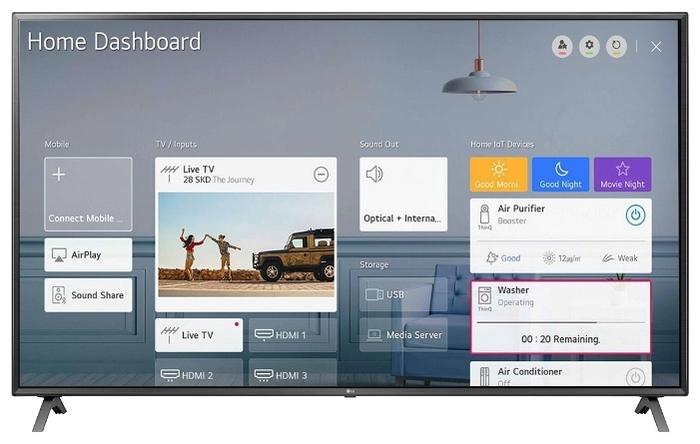 LG 82UN85006LA 82 (2020) - платформа Smart TV: webOS