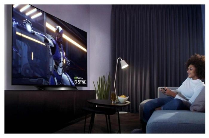 """OLED LG OLED55BXRLB 55"""" (2020) - размеры с подставкой (ШxВxГ): 1228x744x246мм"""