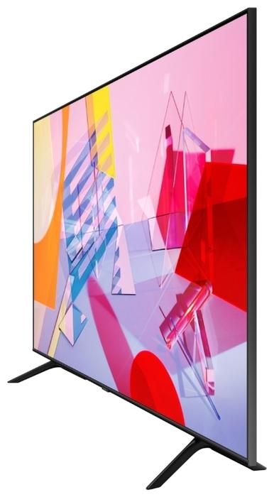 "QLED Samsung QE55Q60TAU 55"" (2020) - проводные интерфейсы: HDMI x 3, USB x 2, Ethernet, выход аудио оптический"