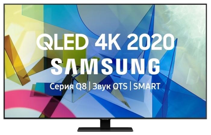 """QLED Samsung QE55Q80TAU 55"""" (2020) - разрешение: 4K UHD (3840x2160), HDR"""