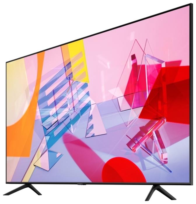 QLED Samsung QE65Q60TAU 65 (2020) - проводные интерфейсы: HDMI x 3, USB x 2, Ethernet, выход аудио оптический