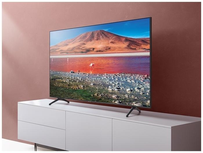 Samsung UE43TU7100U 43 (2020) - беспроводные интерфейсы: Wi-Fi 802.11ac, 802.11b, 802.11g, 802.11n, Bluetooth, Miracast