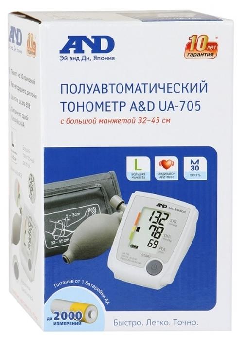 AND UA-705 с большой манжетой - питание: от батареек