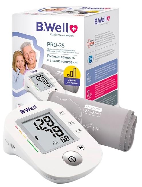 B.Well PRO-35 (М) - функции: измерение пульса, индикатор аритмии