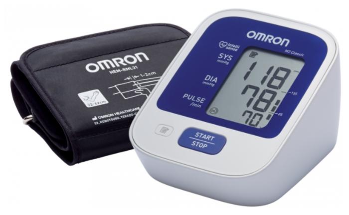 Omron M2 Classic + адаптер + универсальная манжета (HEM 7122-ALRU) - тип: автоматический тонометр