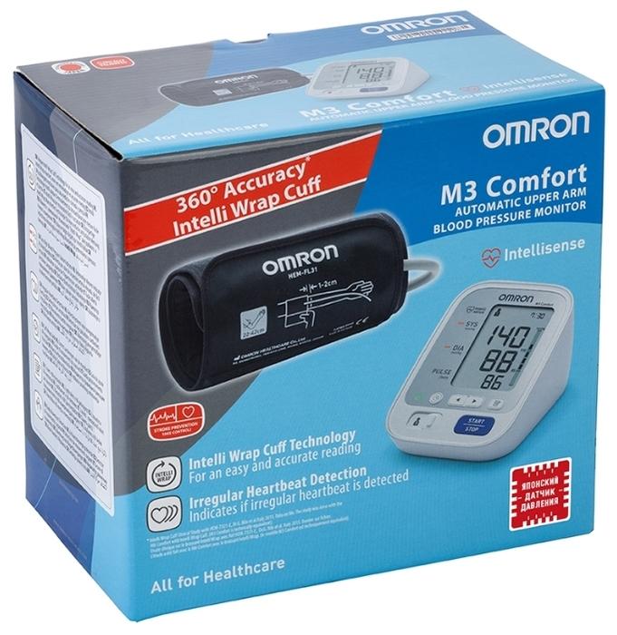 Omron M3 Comfort - функции: измерение пульса, режим нескольких измерений