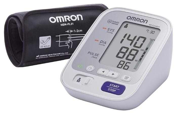 Omron M3 Comfort + адаптер + универсальная манжета (HEM-7134-ALRU) - тип: автоматический тонометр