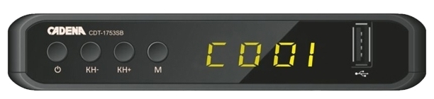 Cadena CDT-1753SB - DVB-T, DVB-T2