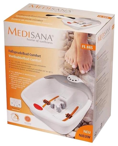 Medisana FS 885 - функции: автоотключение, подогрев воды, поддержание температуры воды, инфракрасный излучатель