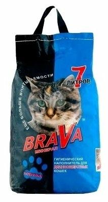 Brava для длинношерстных кошек, 7 л - минеральный