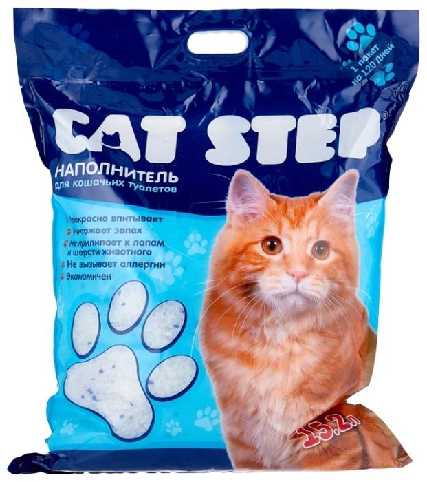 Cat Step силикагелевый, 15.2 л - силикагелевый