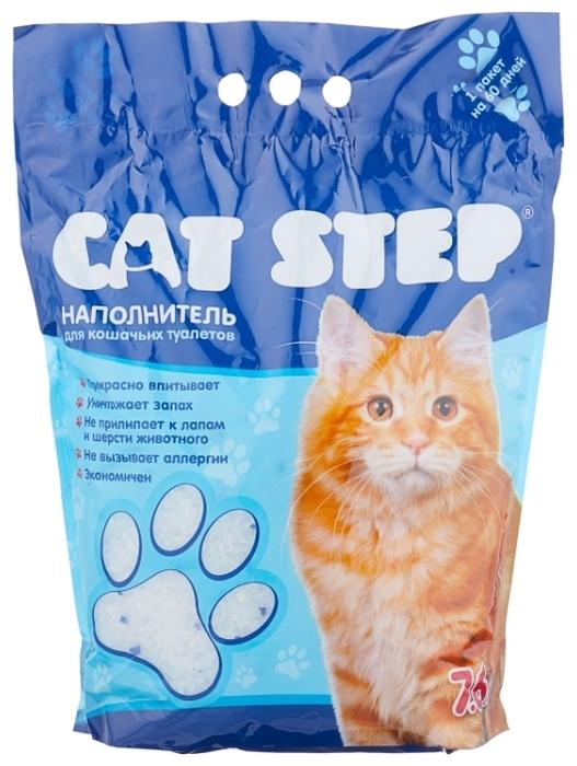 Cat Step силикагелевый, 7.6 л - силикагелевый